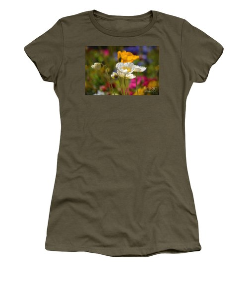 Poppies In The Spring Women's T-Shirt (Junior Cut) by Deb Halloran