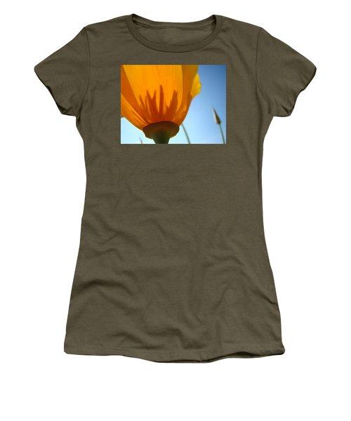 Poppies Sunlit Poppy Flower 1 Wildflower Art Prints Women's T-Shirt