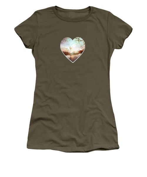 Porcelain Skies Women's T-Shirt (Junior Cut) by Valerie Anne Kelly