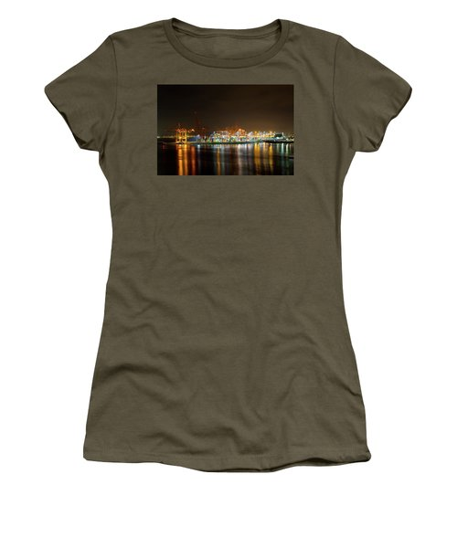 Port Of Vancouver Bc At Night Women's T-Shirt (Athletic Fit)