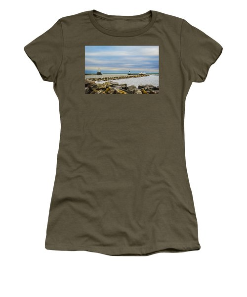 Port Washington Light 5 Women's T-Shirt (Junior Cut) by Deborah Smolinske