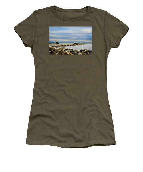 Port Washington Light 6 Women's T-Shirt (Junior Cut) by Deborah Smolinske