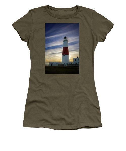 Portland Lighthouse At Sunset Women's T-Shirt