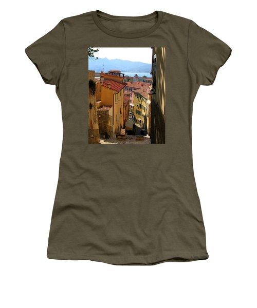 Portoferraio Elba Women's T-Shirt (Junior Cut) by Carla Parris