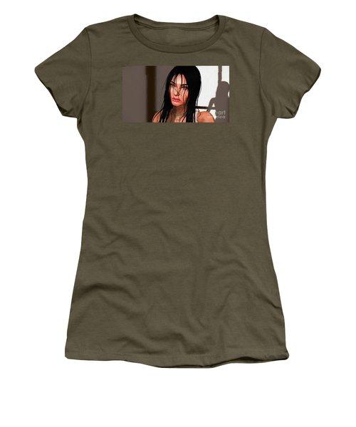 Portrait Female 1 Women's T-Shirt (Athletic Fit)
