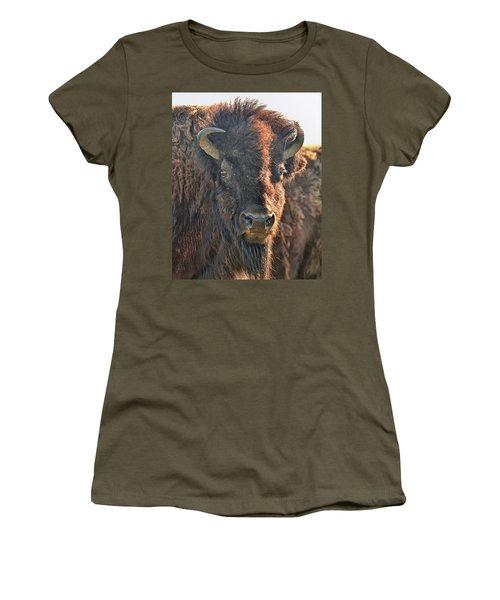 Portrait Of A Buffalo Women's T-Shirt (Athletic Fit)
