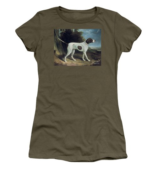 Portrait Of A Liver And White Pointer Women's T-Shirt