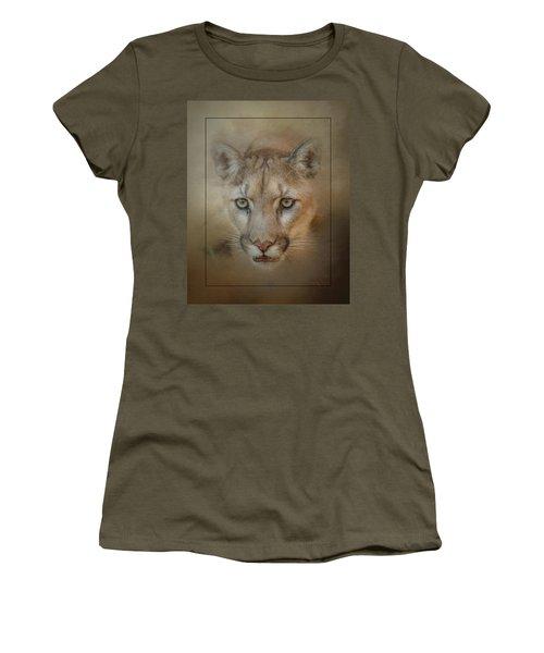 Portrait Of A Mountain Lion Women's T-Shirt
