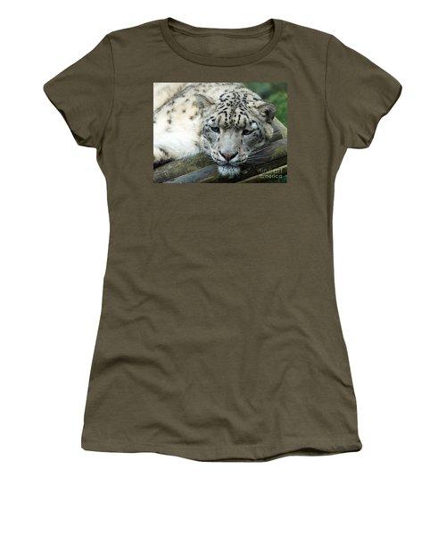 Portrait Of A Snow Leopard Women's T-Shirt