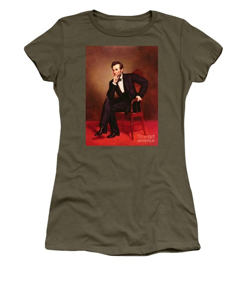 Portrait Of Abraham Lincoln Women's T-Shirt