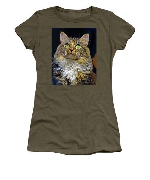Portrait Of Holly Women's T-Shirt (Junior Cut) by Larry Nieland