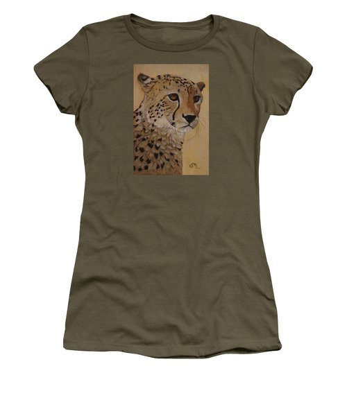 Portrait Of Murphy - Male Cheetah Women's T-Shirt (Athletic Fit)