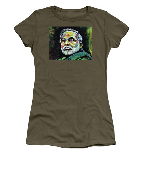 Portrait Of Shri Narendra Modi Women's T-Shirt (Athletic Fit)