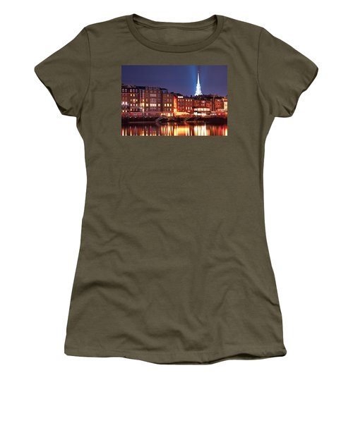 Portsmouth Waterfront At Night Women's T-Shirt