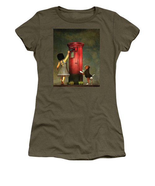 Posting A Letter Together Women's T-Shirt (Athletic Fit)