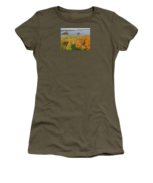 Women's T-Shirt (Athletic Fit) featuring the photograph Potowatomi Tower by Greta Larson Photography