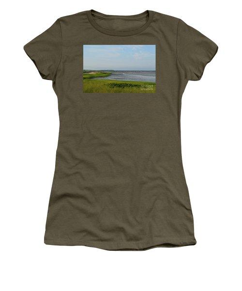 Powder Point Bridge In Duxbury  Women's T-Shirt (Athletic Fit)