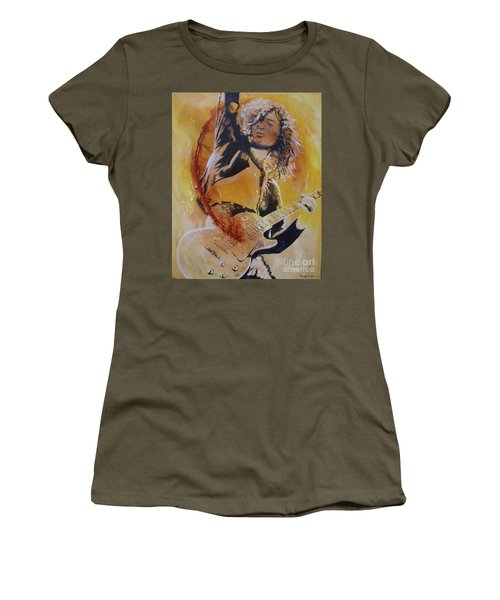 Power Chord Women's T-Shirt (Junior Cut) by Stuart Engel