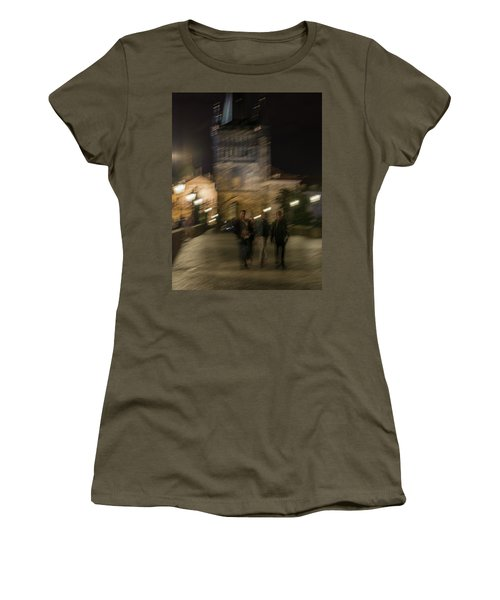 Women's T-Shirt (Athletic Fit) featuring the photograph Prague Nights by Alex Lapidus