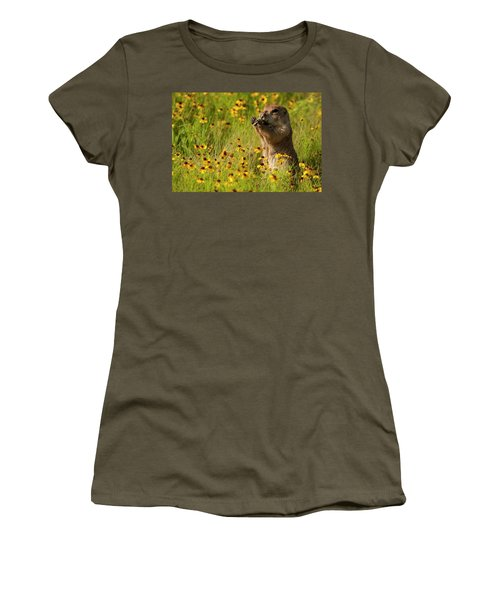 Prairie Dog Lunch Women's T-Shirt (Athletic Fit)