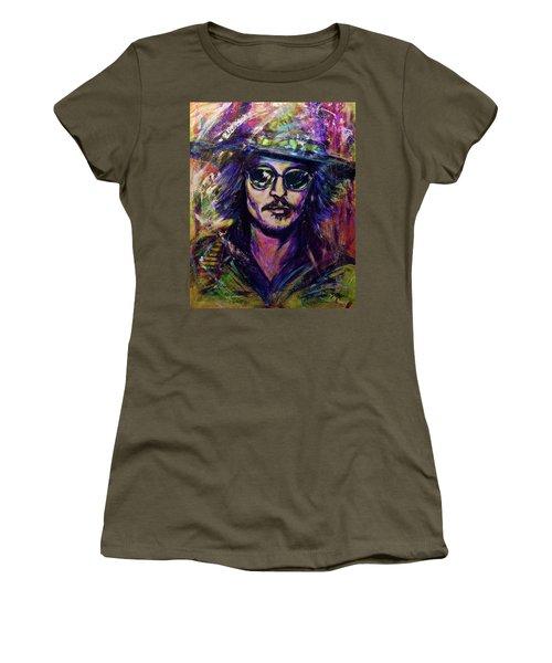 Precious Metals, Johnny Depp Women's T-Shirt (Athletic Fit)