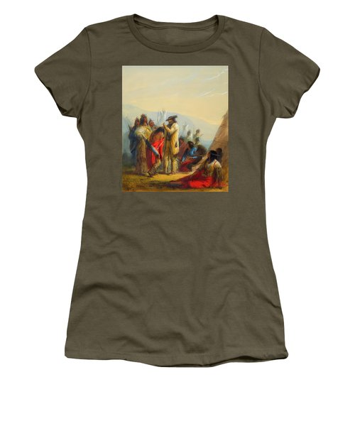 Present To Indians Women's T-Shirt (Athletic Fit)
