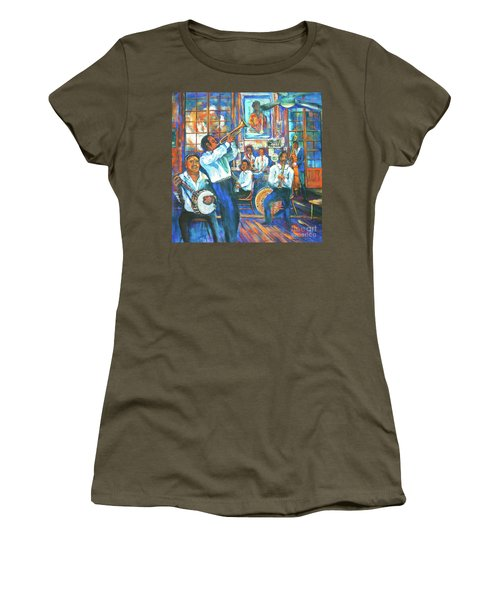 Women's T-Shirt (Junior Cut) featuring the painting Preservation Jazz by Dianne Parks