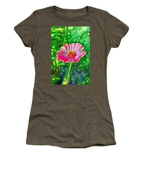 Pretty Flower Women's T-Shirt (Athletic Fit)