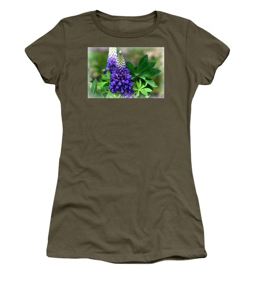 Women's T-Shirt (Junior Cut) featuring the photograph Pretty In Purple by Clarice  Lakota