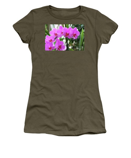 Pretty Pink Phalaenopsis Orchids #2 Women's T-Shirt (Athletic Fit)