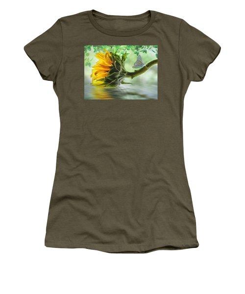 Pretty Sunflower Women's T-Shirt (Junior Cut) by Nina Bradica