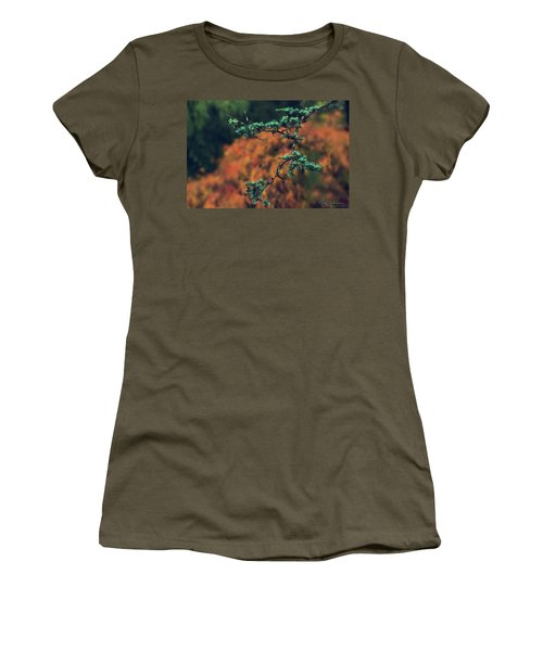 Women's T-Shirt (Athletic Fit) featuring the photograph Prickly Green by Gene Garnace