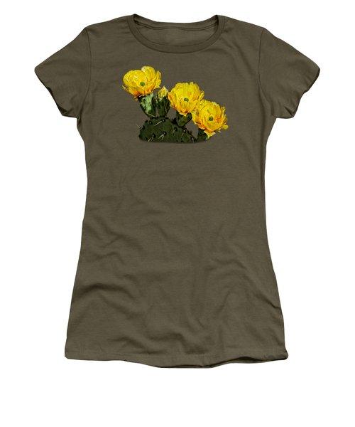 Prickly Pear Flowers Op42 Women's T-Shirt