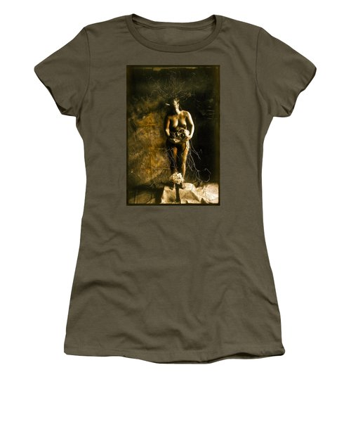 Primitive Woman Holding Mask Women's T-Shirt