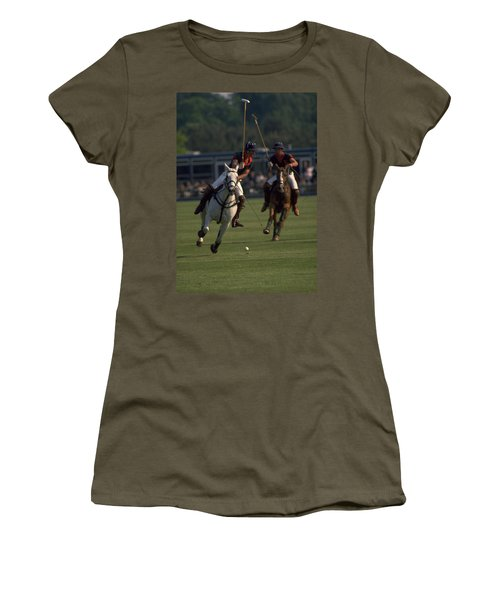 Prince Charles Playing Polo Women's T-Shirt (Athletic Fit)
