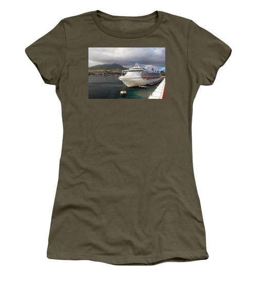 Princess Emerald Docked At Barbados Women's T-Shirt