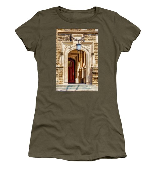 Women's T-Shirt (Junior Cut) featuring the photograph Princeton University 1901 Laughlin Hall by Susan Candelario