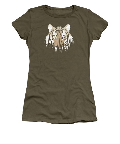 Hiding Tiger Women's T-Shirt (Athletic Fit)