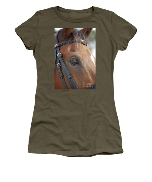 Women's T-Shirt (Junior Cut) featuring the photograph Prinz by Jim and Emily Bush