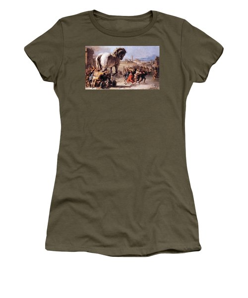 Procession Of The Trojan Horse  Women's T-Shirt (Athletic Fit)