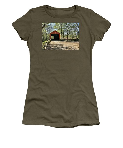 Women's T-Shirt featuring the photograph Protected Crossing In Spring by Andrea Platt
