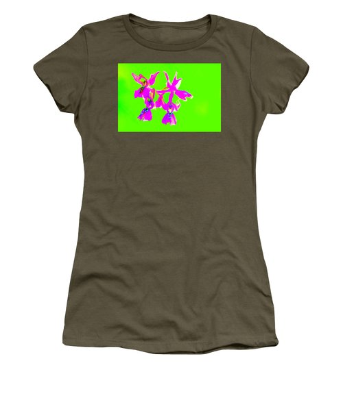 Green Provence Orchid  Women's T-Shirt (Athletic Fit)