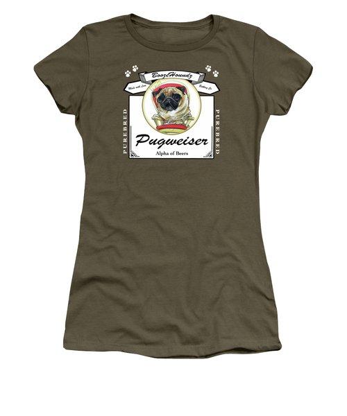 Pugweiser Beer Women's T-Shirt