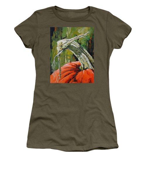 Pumpkin1 Women's T-Shirt (Athletic Fit)