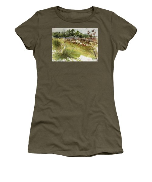 Pumpkins On Rt. 13 Women's T-Shirt (Athletic Fit)