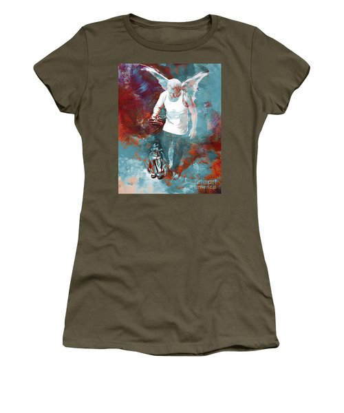 Women's T-Shirt (Junior Cut) featuring the painting Puppet Man 003 by Gull G