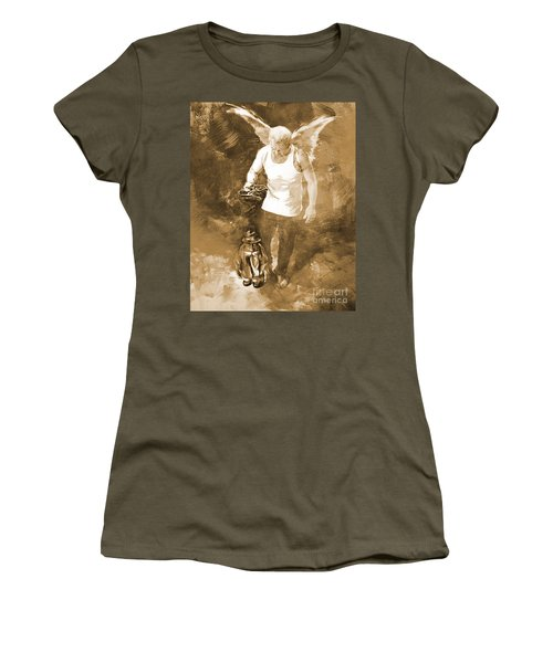 Women's T-Shirt (Junior Cut) featuring the painting Puppet Show by Gull G
