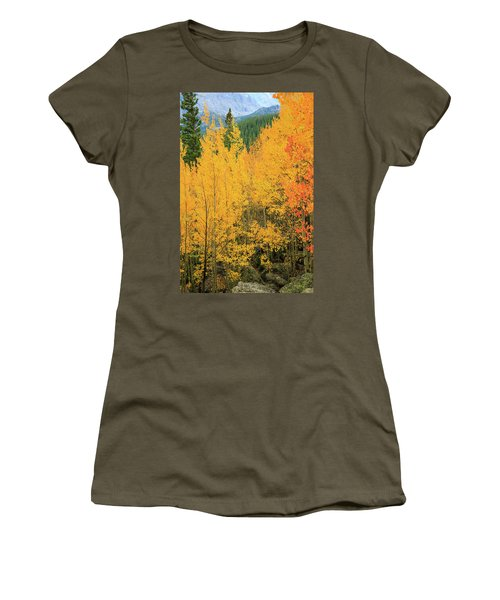 Women's T-Shirt (Junior Cut) featuring the photograph Pure Gold by David Chandler
