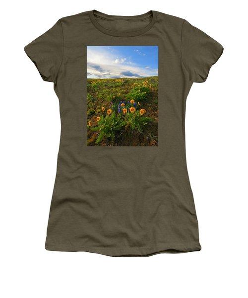 Purple And  Gold Women's T-Shirt