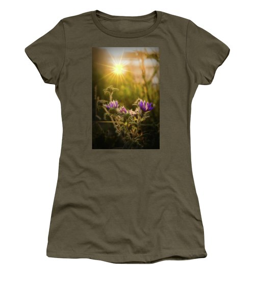Purple Aster Glow Women's T-Shirt